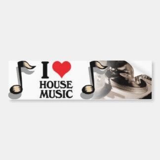 I Love House Music Car Bumper Sticker