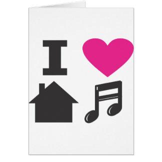 I love house music card