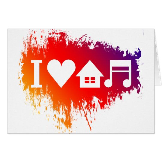 I love house music card