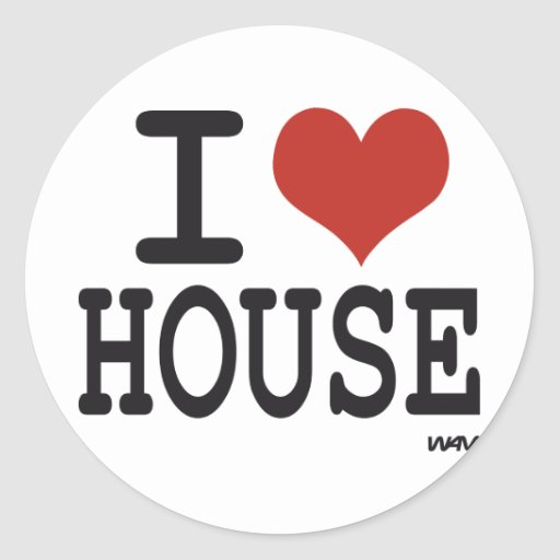 I love house music classic round sticker zazzle for Vintage house music