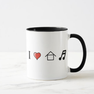 I Love House Music Club Clubbing Mug
