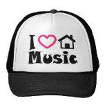 I Love House Music Hat