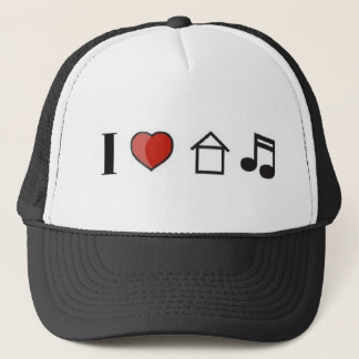 I Love House Music Hat