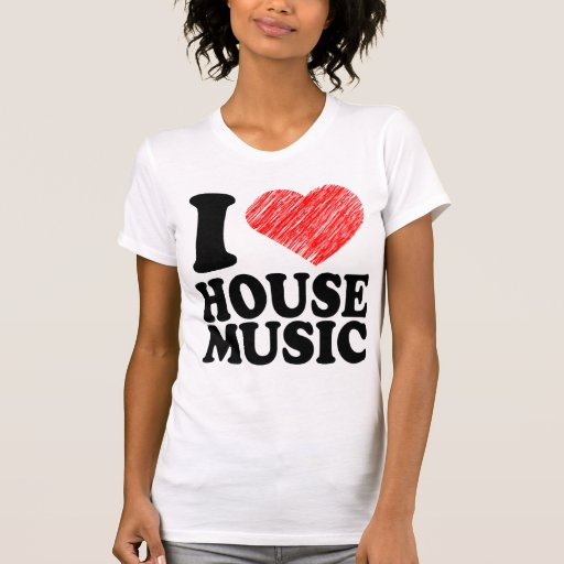 I heart house music t shirts shirts and custom i heart for Cool house music