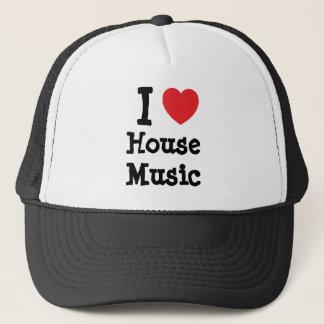 I love House Music heart custom personalized Trucker Hat
