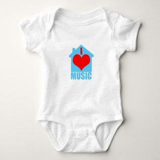 I Love House Music - Heart House Baby Bodysuit