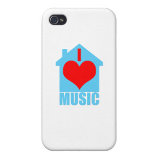 I Love House Music - Heart House Case For iPhone 4