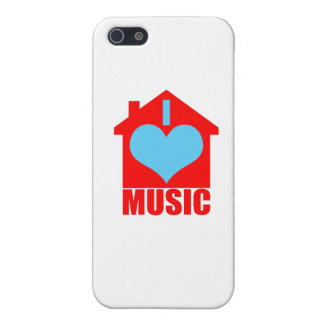 I Love House Music - Heart House iPhone 5 Covers