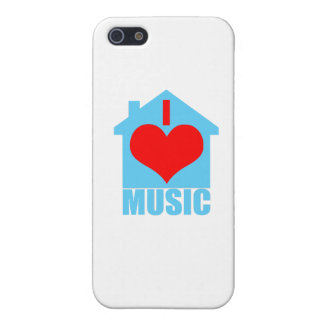 I Love House Music - Heart House iPhone 5 Cover