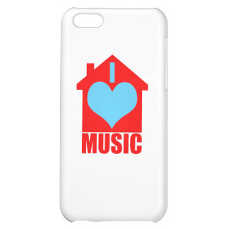 I Love House Music - Heart House Cover For iPhone 5C