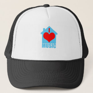 I Love House Music - Heart House Trucker Hat