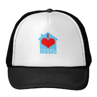 I Love House Music - Heart House Trucker Hat