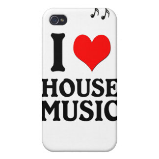 I LOVE HOUSE MUSIC iPhone 4 COVERS