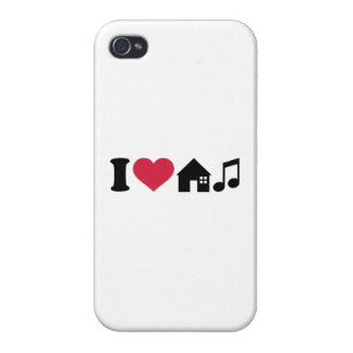 I love House music Covers For iPhone 4