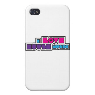I Love House Music iPhone 4 Case
