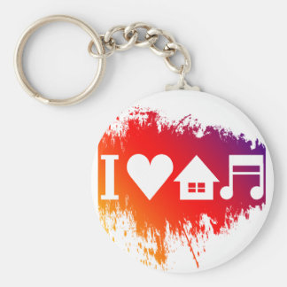 I love house music keychain
