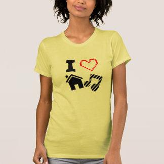 I Love House Music Ladies T-Shirt