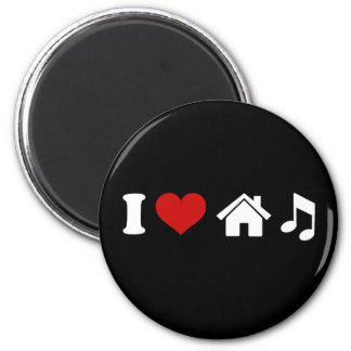 I Love House Music Refrigerator Magnets