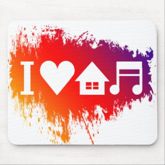 I love house music mouse pad