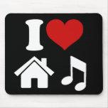 I Love House Music Mousepads