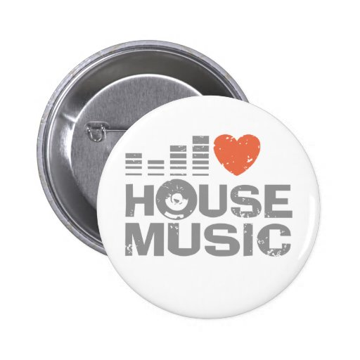 I Love House Music Pin