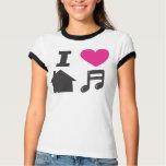 I love house music playeras