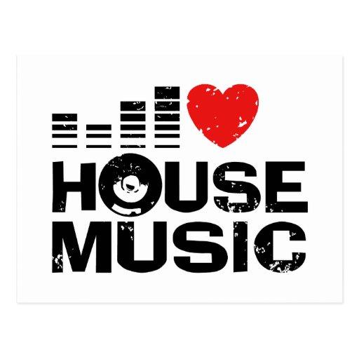 I Love House Music Postcard