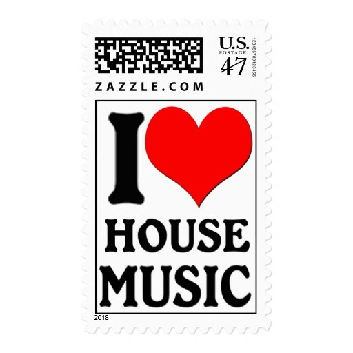 I love house music stamp zazzle for Which house music