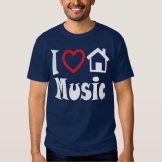 I Love House Music T Shirt Dark