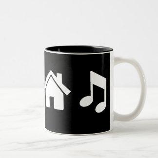 I Love House Music Two-Tone Coffee Mug