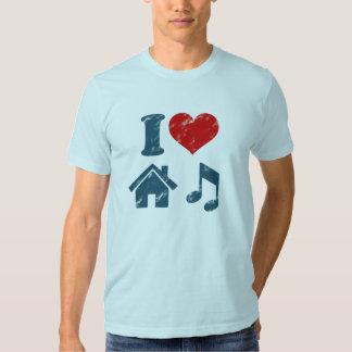 I Love House Music Vintage T Shirt