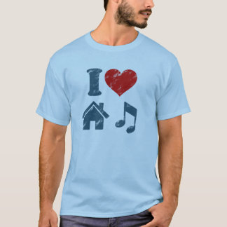 I Love House Music Vintage T-Shirt   Music Gifts