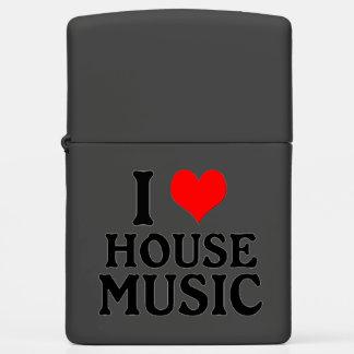 I Love House Music Zippo Lighter