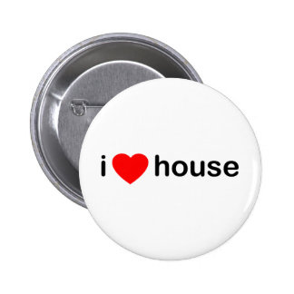 I Love House Pinback Button