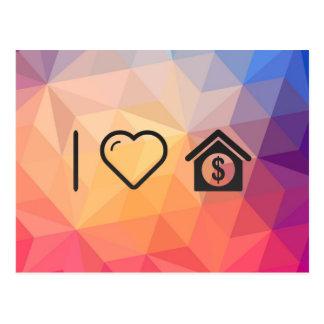 I Love House Sale Postcard