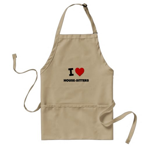 I Love House-Sitters Aprons