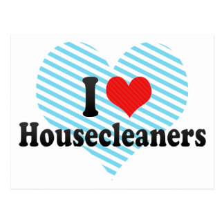 I Love Housecleaners Postcard