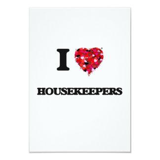 I Love Housekeepers 3.5x5 Paper Invitation Card