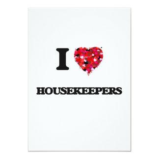 I Love Housekeepers 5x7 Paper Invitation Card