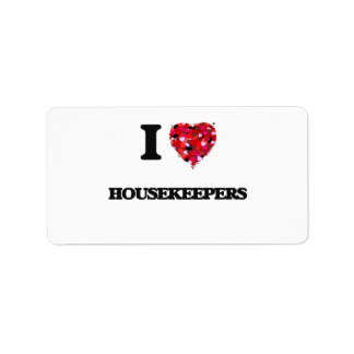 I Love Housekeepers Address Label