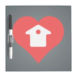 I Love Houses Dry Erase Whiteboards