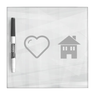 I Love Houses Dry-Erase Boards