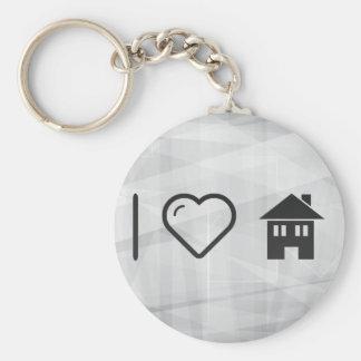 I Love Houses Keychain