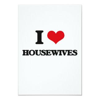 "I love Housewives 3.5"" X 5"" Invitation Card"