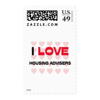 I LOVE HOUSING ADVISERS POSTAGE