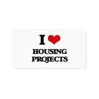I love Housing Projects Custom Address Label