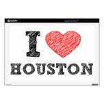 "I Love Houston 17"" Laptop Skin"