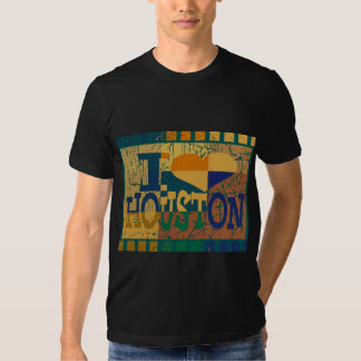 I love Houston and pop art T Shirt