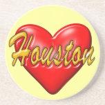 I Love Houston Beverage Coaster