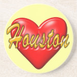 I Love Houston Beverage Coasters